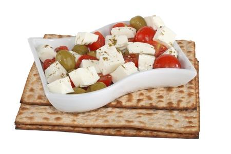 the feast of the passover: Religiosa ebraica festa della Pasqua cibo tradizionale Matzo