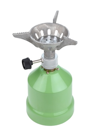camping gas cooker on a white background photo