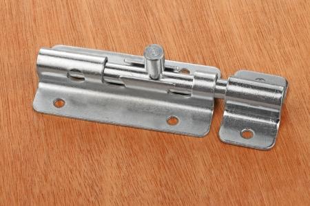 pawl: Metal latch for the door