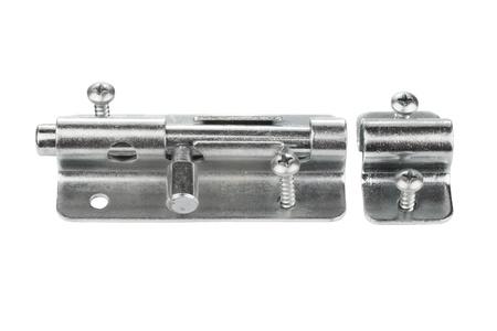 pawl: Chiusura in metallo per la porta su sfondo bianco