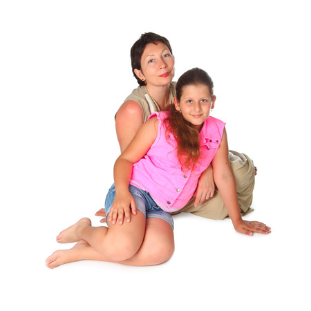 jewess: mother and daughter sitting on the floor