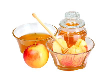Apple and honey - a traditional food for the jewish holiday of Rosh Hashana Stock Photo - 26964693
