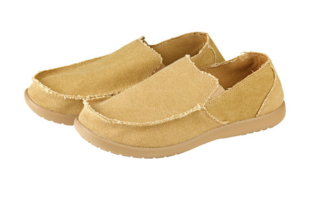 loafers: Modern mens loafers over white background
