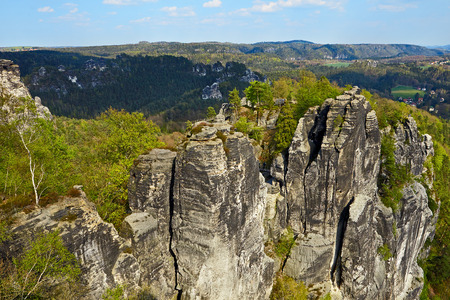 saxon: Saxon Switzerland natural reserve near Dresden Germany