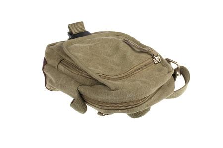 shoulder bag: Mens Canvas Shoulder Bag isolated on white background