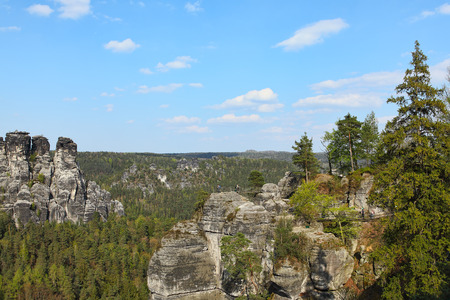saxon: Saxon Switzerland natural reserve near Dresden, Germany
