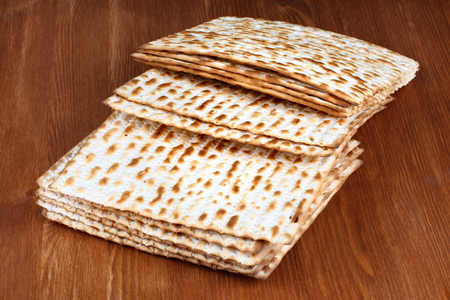 matzo: Matzo (or matzah) is bread traditionally eaten by Jews during the week-long Passover holiday Stock Photo