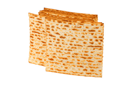 matzah: Matzo (or matzah) is bread traditionally eaten by Jews during the week-long Passover holiday Stock Photo