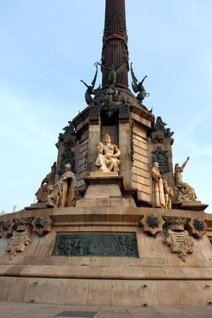 colom: Columbus Monument, Monument A Colom, Columbus Statue, Barcelona, Spain.