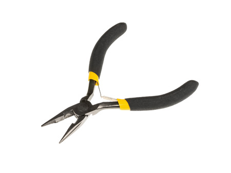 wirecutters: A pair of  pliers with black handles