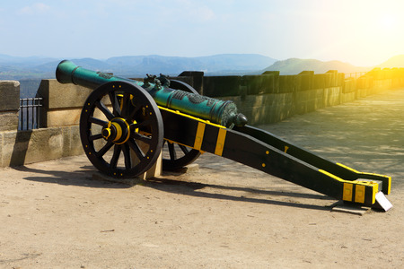 Cannon At The Fortress Koenigstein in Germany Editorial