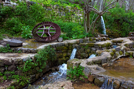 Resting place.Early Spring.Banias is a nature reserve in the Golan Heights.Israel