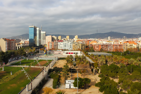 residential area: Panoramic view of typical residential architecture of Barcelona Editorial