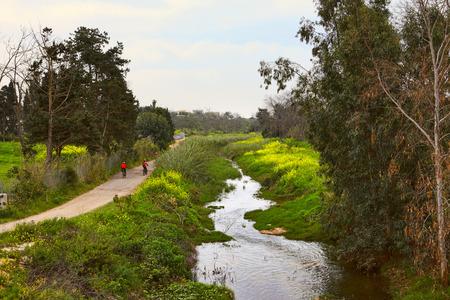 nahal: The Nahal Poleg nature reserve. Israel