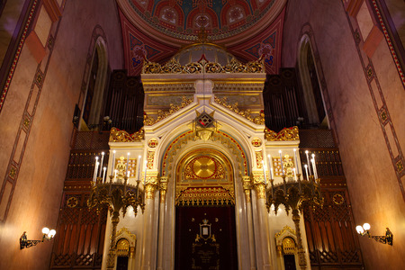 Interior of the Great Synagogue, Budapest, Hungary