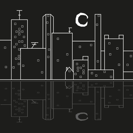 city at night: city night reflection
