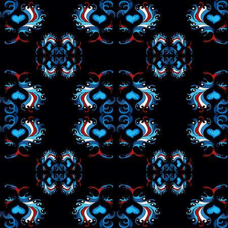 twill: blue pattern wallpaper