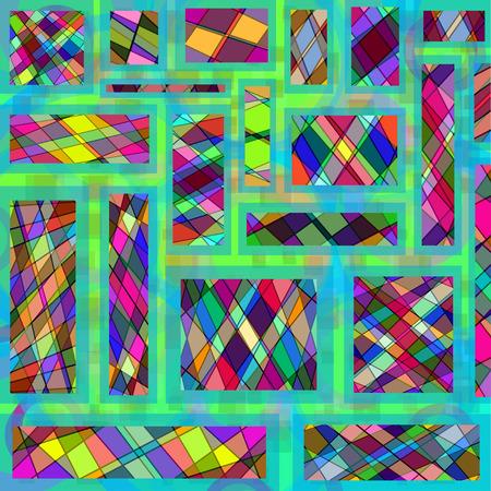 mosaic background: colored geometric mosaic background