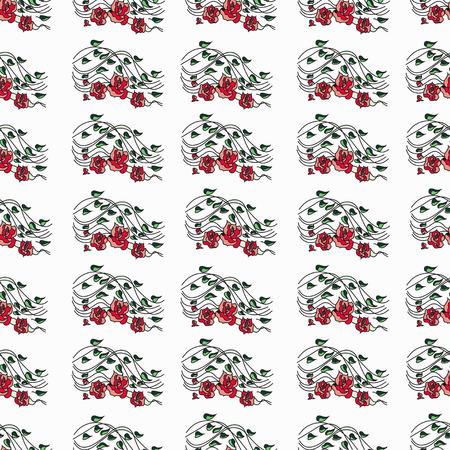 rose: rose pattern Illustration