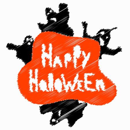 Halloween perfume blurry objects vector illustration
