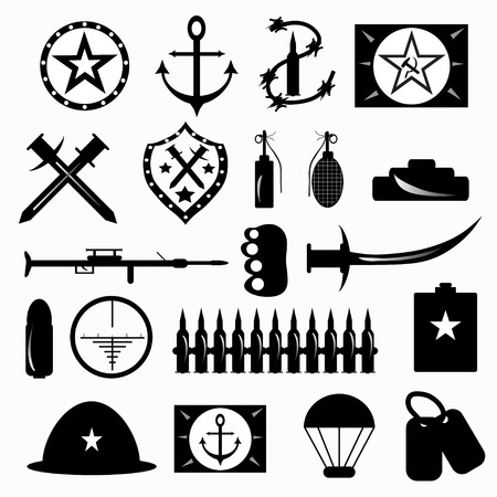 Usa Or Nato Troop Military Army Symbols Vector Illustration Royalty