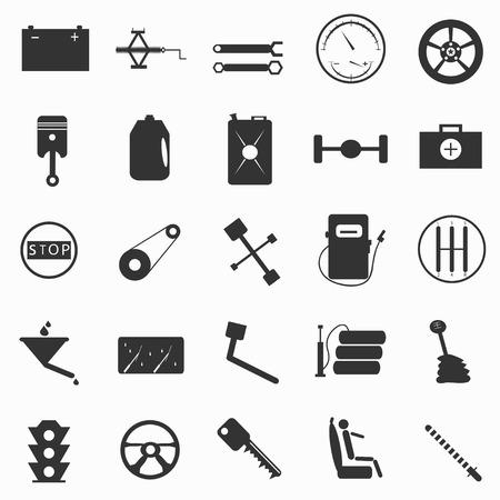paraphernalia: automotive paraphernalia symbols vector illustration