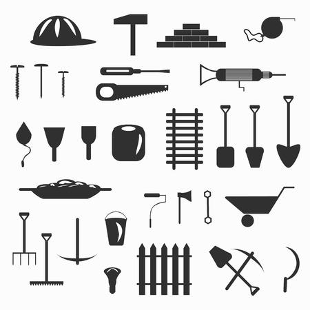 reamer: building tools symbols vector illustration