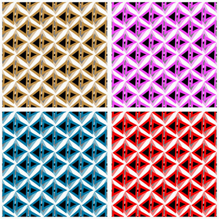 pink and brown: polygons in red blue pink brown Collection