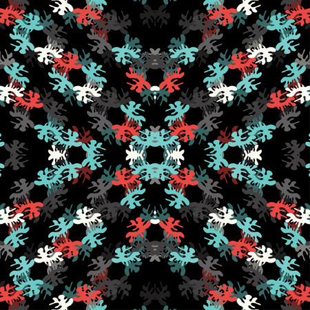 blots: Beautiful abstract blots on a black background