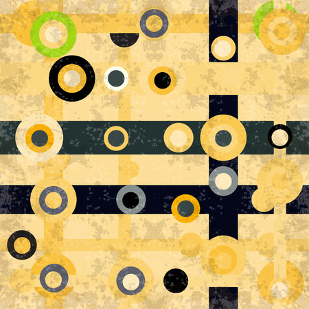 beautiful circles and lines on a light background vector illustration grunge effect