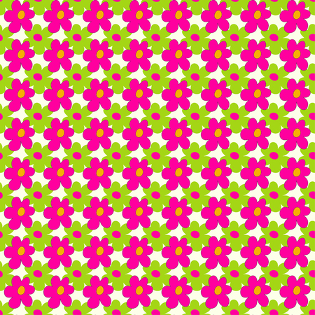 groene bloemen: pink and green flowers on a light background seamless pattern vector illustration