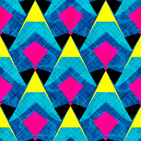 bright psychedelic abstract geometric background seamless vector pattern