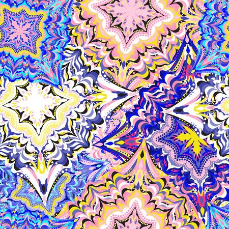 animal border: colored seamless pattern. Vintage elements. vector illustration