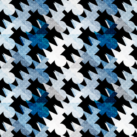 madras: colored polygons seamless abstract geometric pattern on a black background