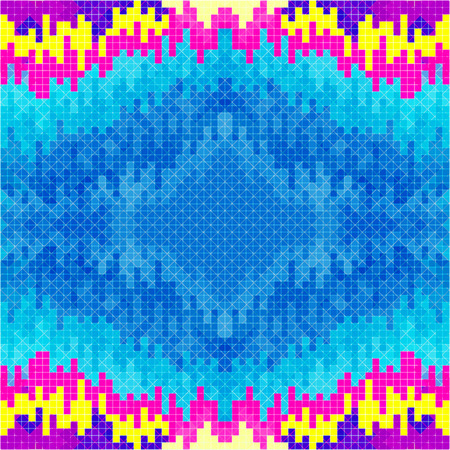 discrete: small pixels psychedelic colored geometric background