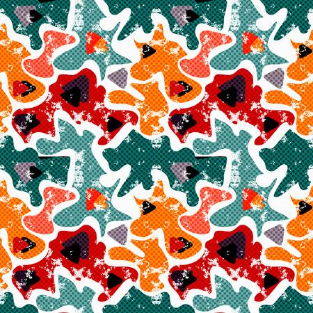 graphiti: colored graffiti seamless texture vector illustration