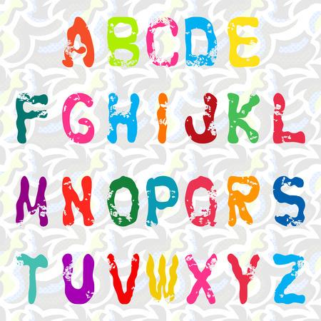 abecedario graffiti: alfabeto de graffiti ilustración vectorial Colección