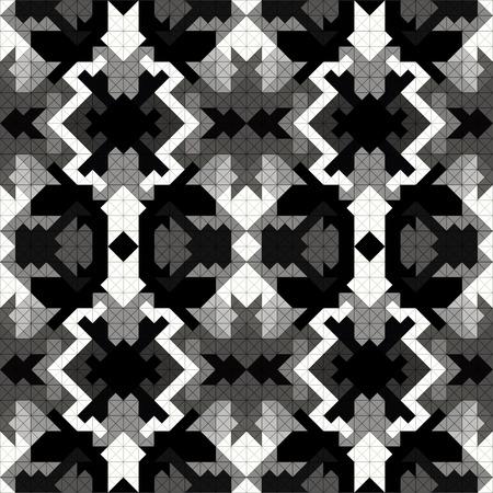 tile pattern: pixel monochrome beautiful seamless pattern vector illustration