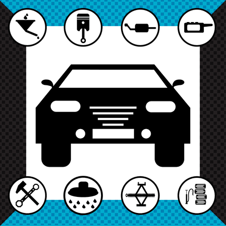 traffic warden: beautiful monochrome road symbols vector illustration
