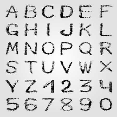 abecedario graffiti: graffiti alfabeto y los números