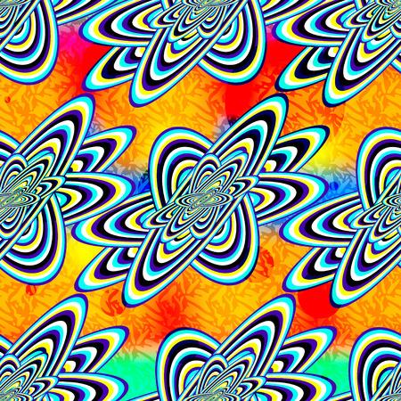 forme geometrique: objets géométriques abstraites sur un beau fond orange seamless Illustration