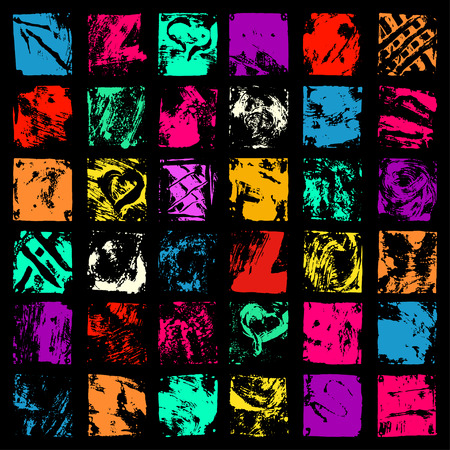 ink blots: Color ink blots collection of grunge texture
