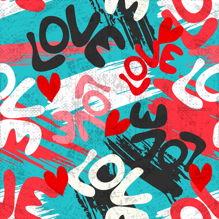 Saint Valentin, seamless, vecteur, motif, graffiti