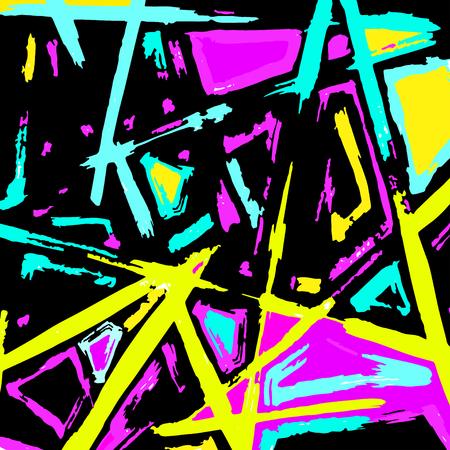 ilustración vectorial polígonos resumen hermosa Graffiti