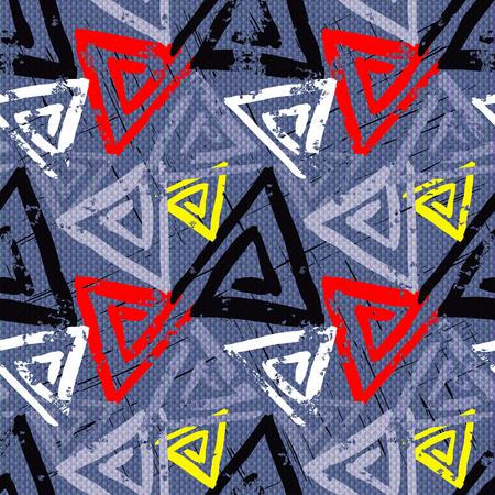 mosaic background: grunge colored graffiti seamless pattern