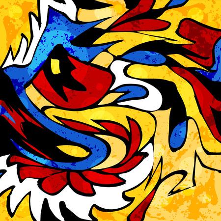 graffiti abstrait coloré beaux objets