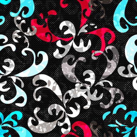 graffiti background: Graffiti background seamless texture Illustration