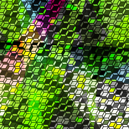 tetris: pixels psychedelic abstract geometric pattern