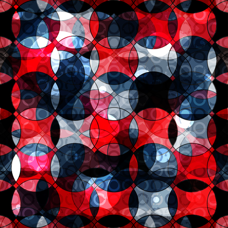 paperhanging: red and black circles abstract geometric background