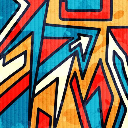 Graffiti piękne abstrakcyjne ilustracji wektorowych wielokąty Ilustracje wektorowe